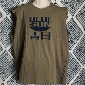 Firefly Blue Sun Logo Licensed Adult Muscle Shirt